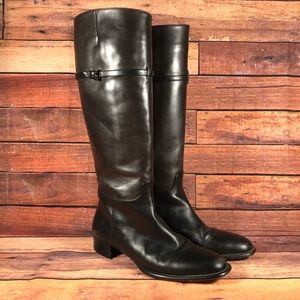 Via Spiga Knee High Brown Leather Boots Italy